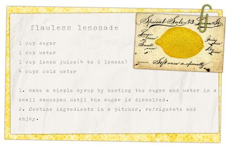 DeCrows Nest: Perfectly Perfect Lemonade